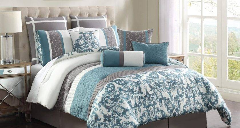 Grey White Pattern Bedding