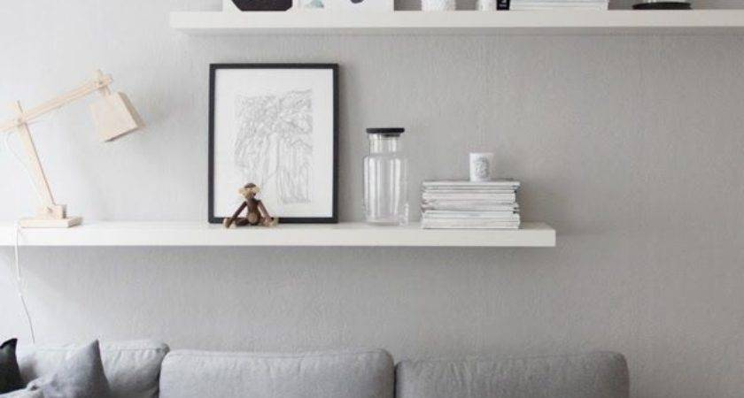 Grey White Wall Decor Living Room Details Walls