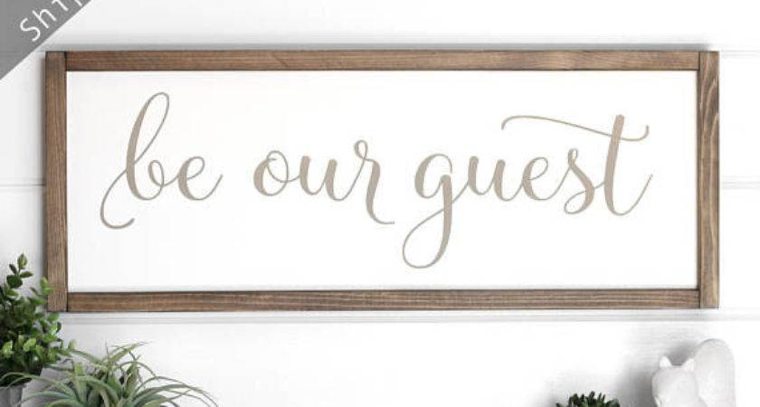 Guest Room Sign Wall Decor Our