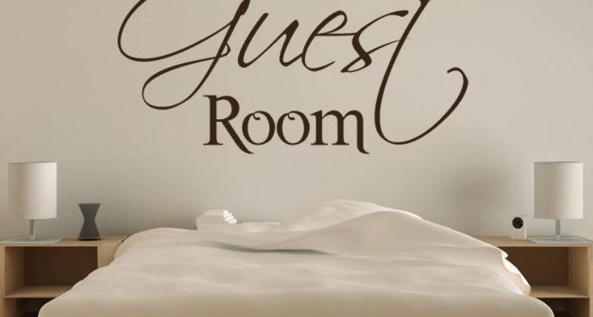 Guest Room Wall Art Sticker Decal Transfer Spare