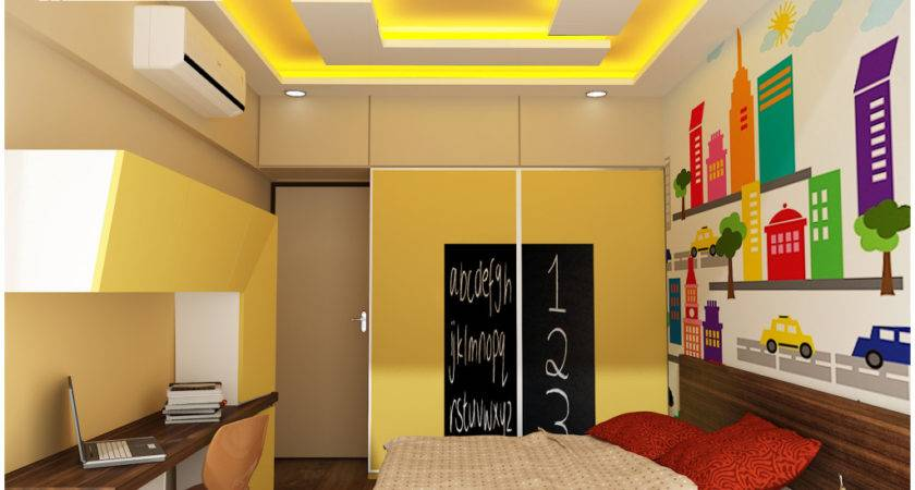 Hall Ceiling Pop Colour Combination