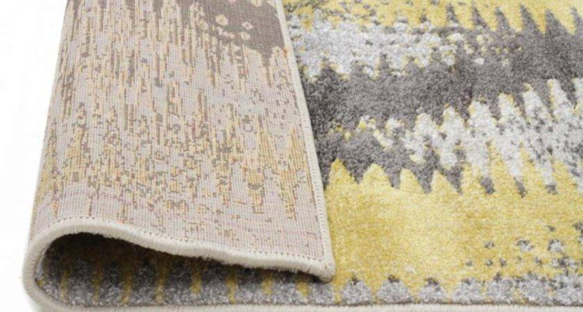 Hannah Matrix Rug Yellow Grey Floor Rugs Shipping