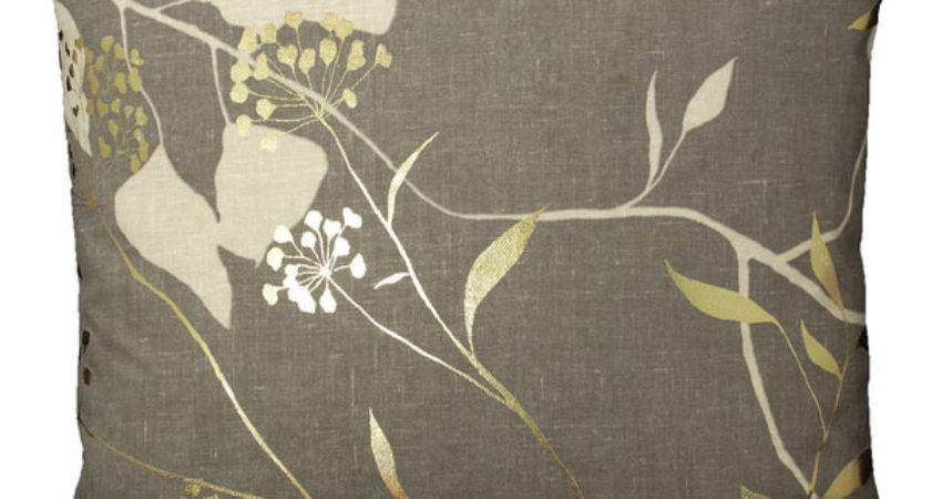 Harlequin Fusion Fabric Coffee Gold Neutral Floral Sofa