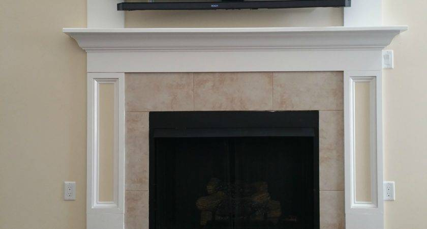 Hiding Components Above Fireplace Fireplaces
