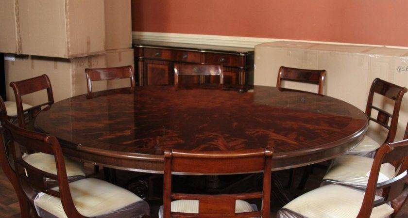 High End Large Round Mahogany Dining Table
