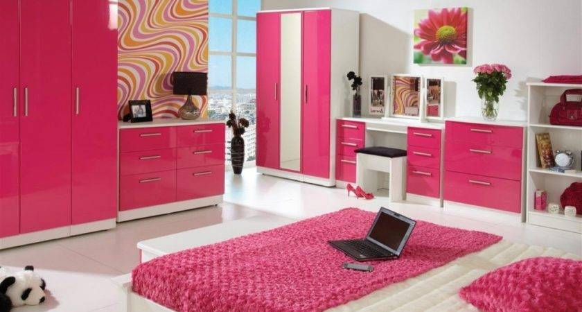 High Gloss Pink Bedroom Furniture Collections