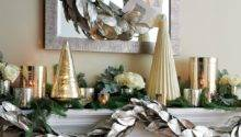 Holiday Mantel Decorating Ideas Crate Barrel
