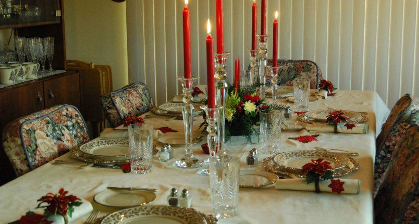 Holiday Table Setting Centerpiece Ideas Christmas