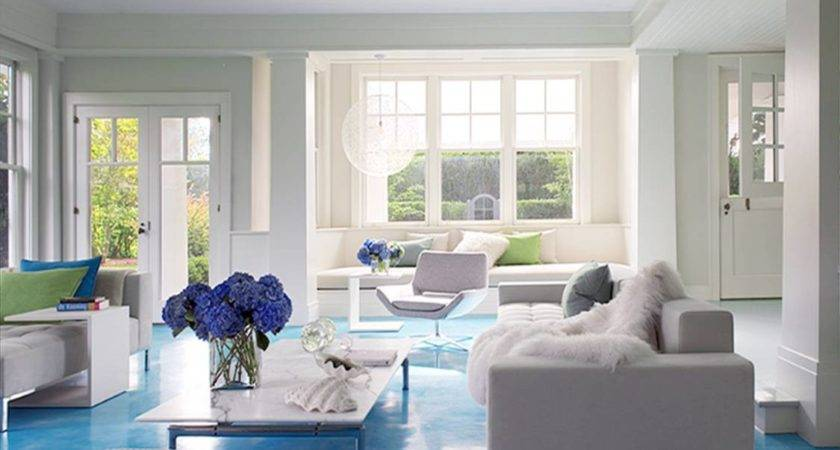 Home Design Blue Living Room