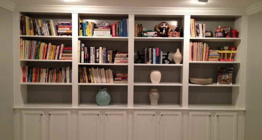 Home Design Built Bookcases Lighting