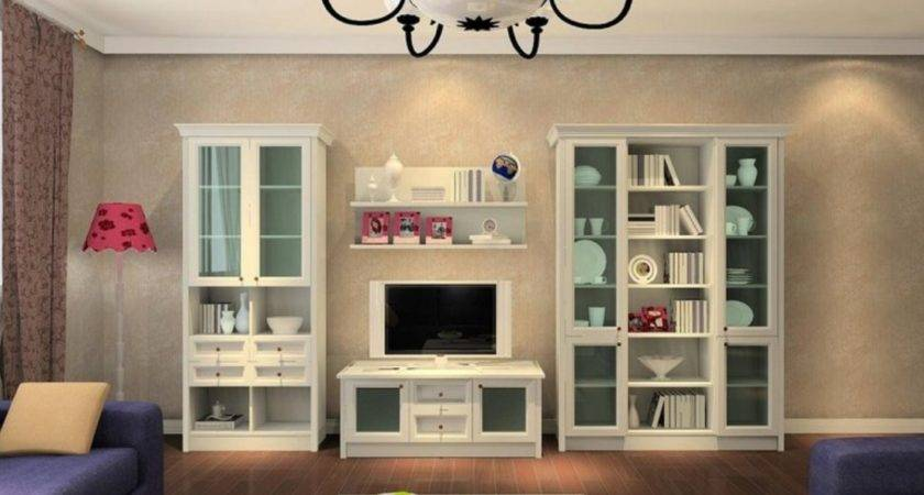 Home Design Living Room Glass Cabinets