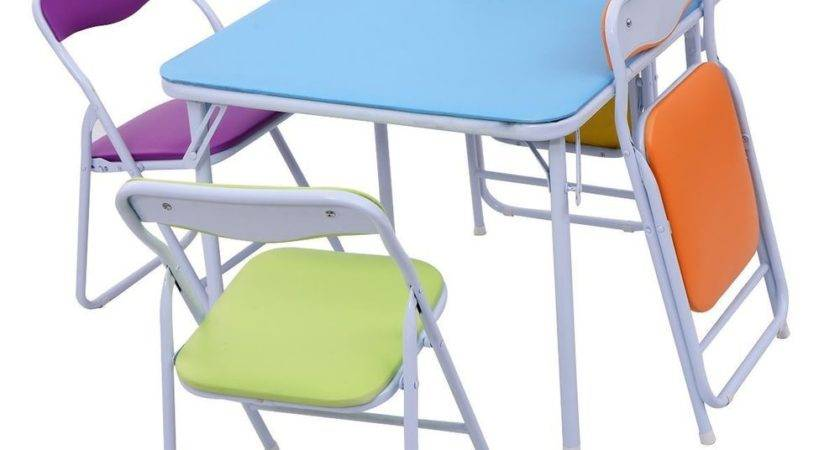Home Flash Furniture Kids Colorful Piece Folding Table