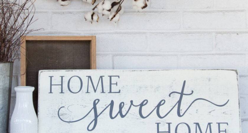 Home Sweet Rustic Wood Sign Wall Decor