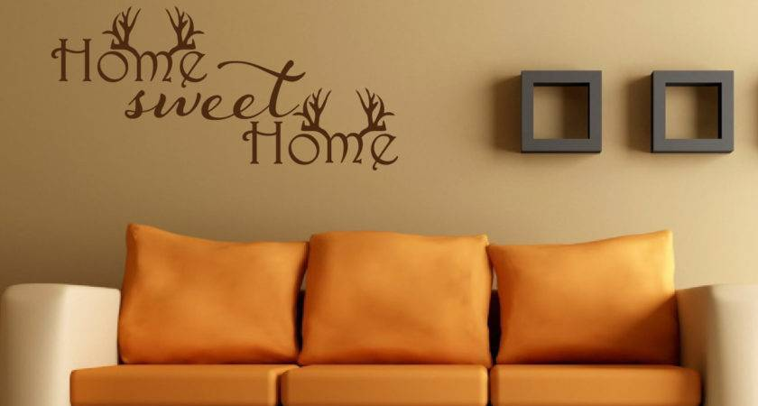 Home Sweet Wall Decal Antler Decor Hunting