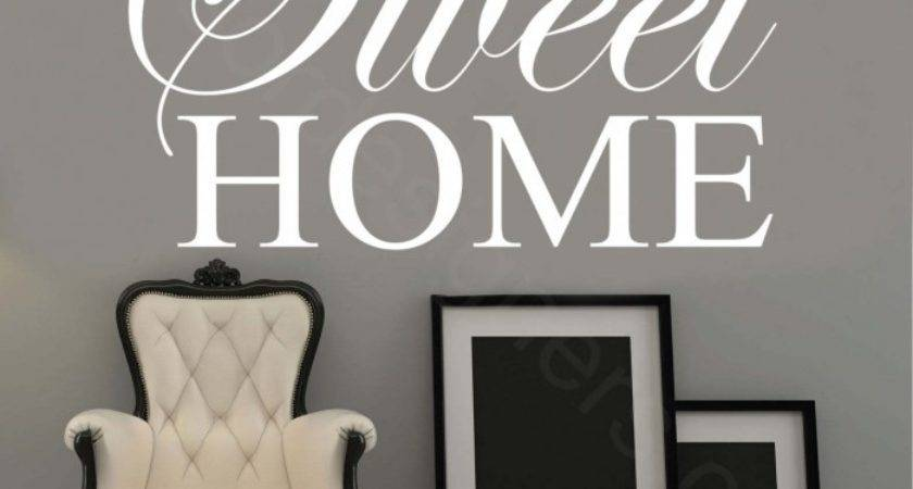 Home Sweet Wall Sticker Quote Quotes Sweets