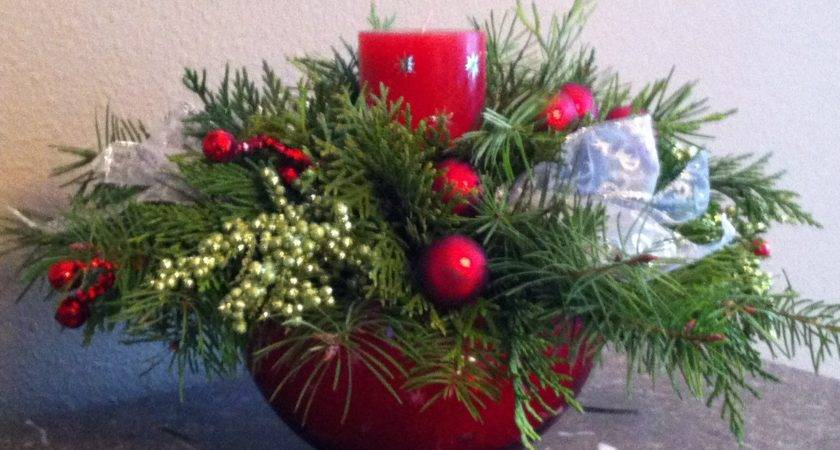 Homemade Holiday Make Your Own Christmas Centerpiece