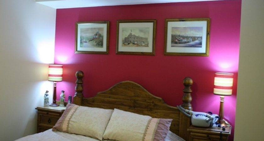 Hot Pink Accent Wall White Paint Color Small