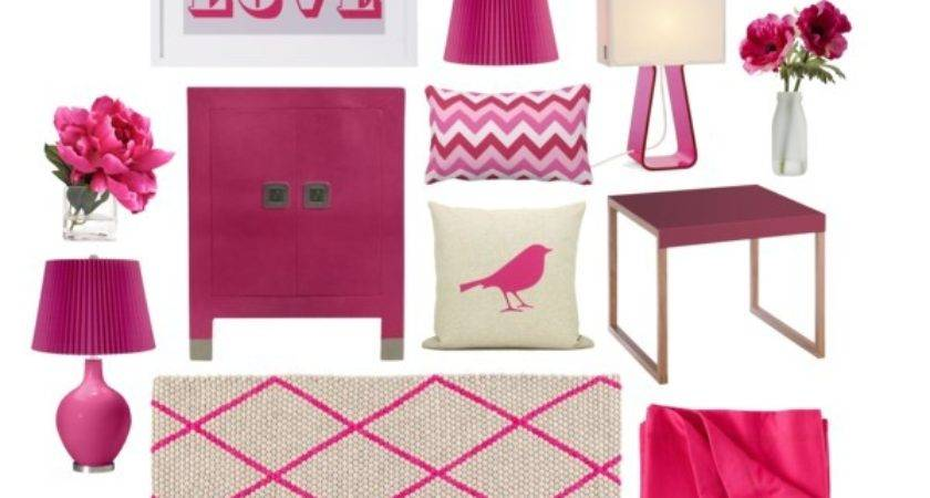 Hot Pink Home Decor Polyvore