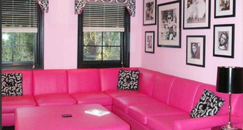 Hot Pink Living Room Accessories Grey