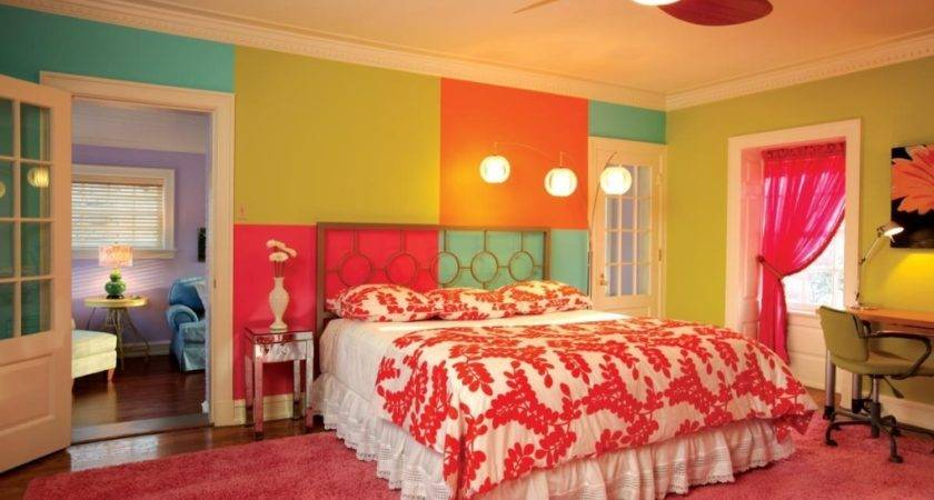 Hot Pink Paint Colors Bedrooms Colorful Bedroom