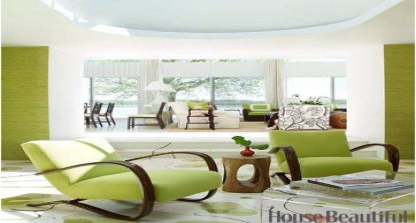 House Beautiful Bedroom Ideas Decorating Lime Green