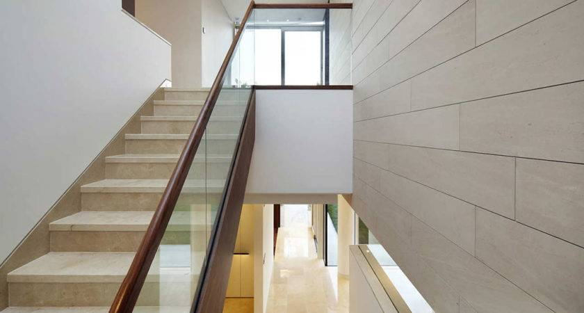 Ideas Beautiful Glass Stair Railing Design Examples