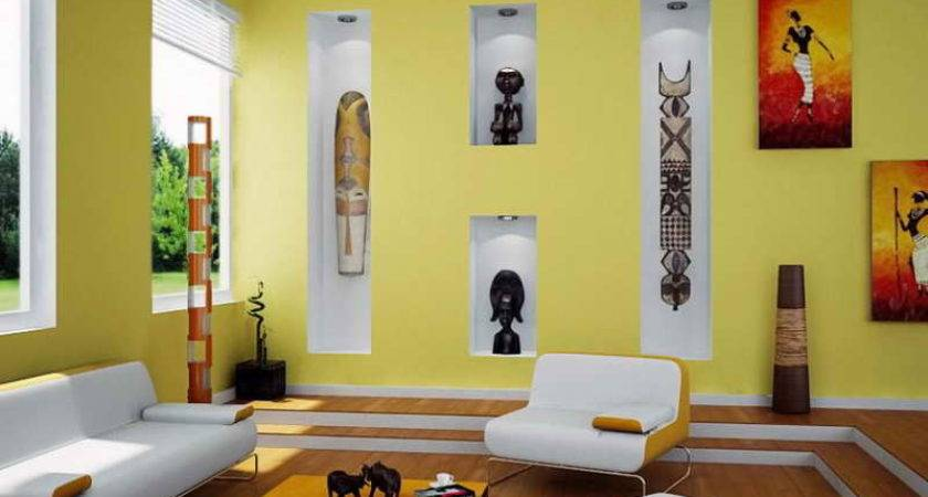 Ideas Color Small Rooms Yellow Wall