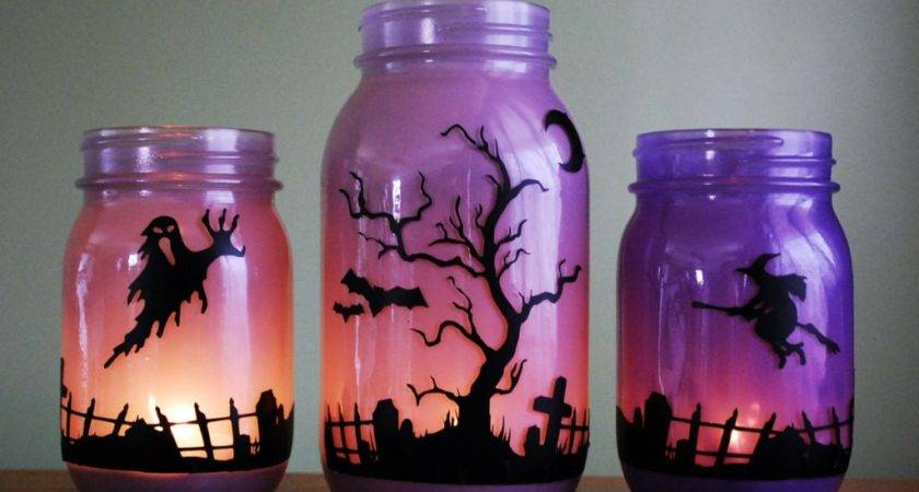 Ideas Halloween Decoration Mason Jars Impress