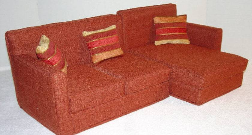 Inch Sectional Doll Sofa Rust Color Majeanscreation