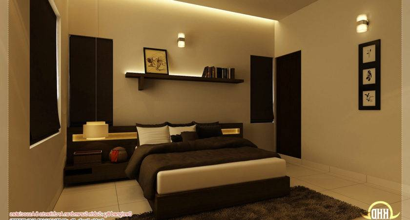 Indian House Interior Designs Bedroom Home Combo