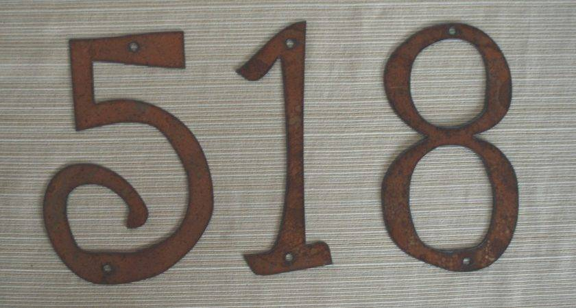 Individual House Numbers Letters Rustic Metal Inch