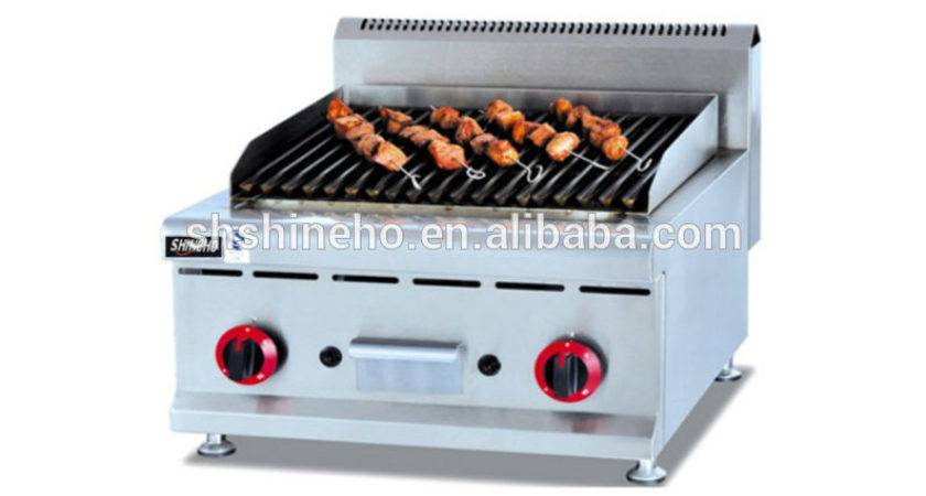 Indoor Gas Bbq Grill Table Top Professional