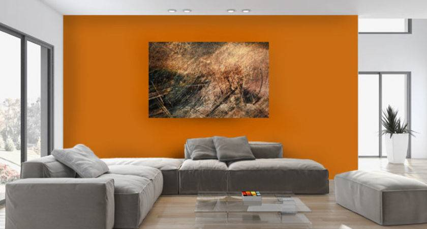 Inspiration Bright Orange Accent Wall Hommcps