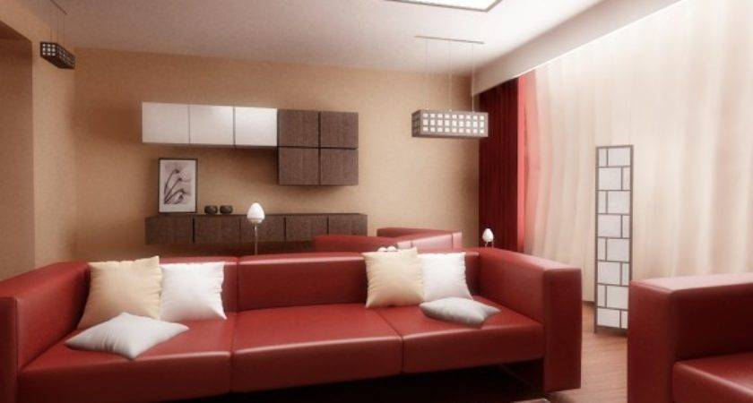 Inspirational Red White Living Rooms Leather Long
