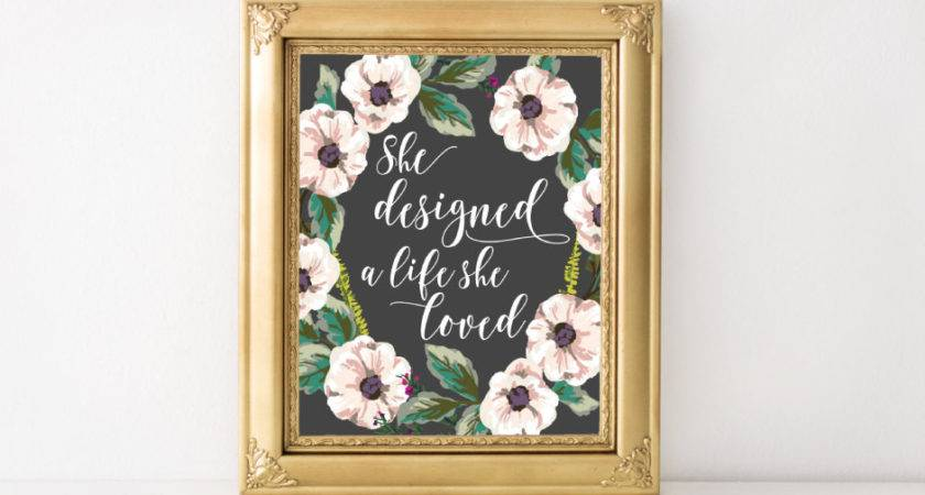 Inspirational Wall Art Feminine