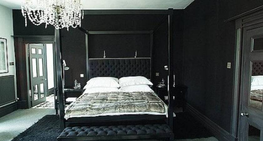 Interior Design Bedroom Black Red Decobizz