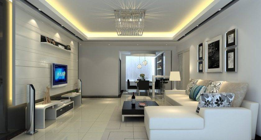 Interior Design Wall Living Dining Room House