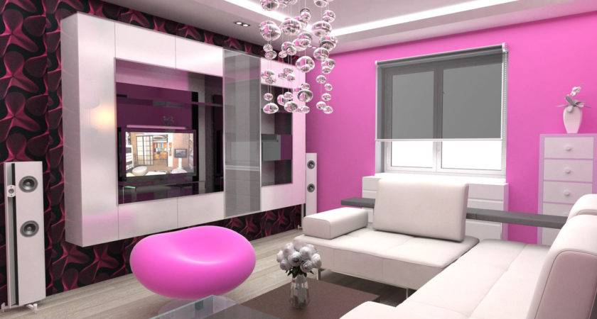Interior Designs Sitting Room Pink Colour Home