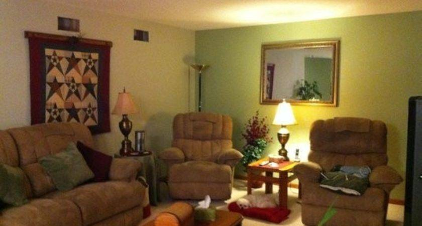 Interior Painting Living Room Warm Two Toned Green
