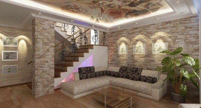 Interior Rock Wall Design Ideas Innovation Rbservis