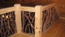 Interior Twig Railing Deck Mountain Laurel