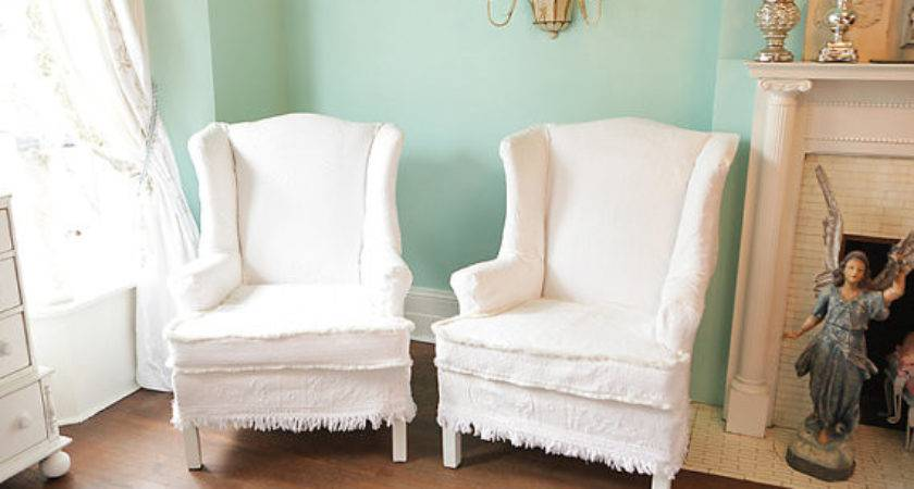 Items Similar Shabby Chic Wingback Chair Vintage