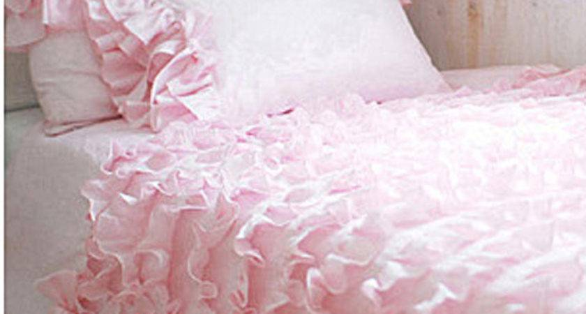 Items Similar Twin Pink Waterfall Ruffled Bows Bedding