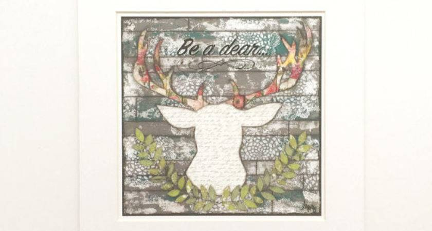 Items Similar Unique Deer Wall Art Feminine