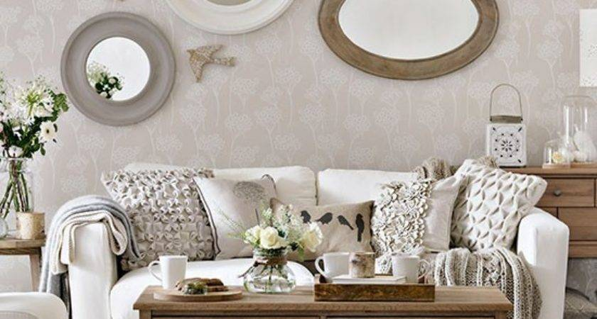 Ivory Natural Wood Living Room