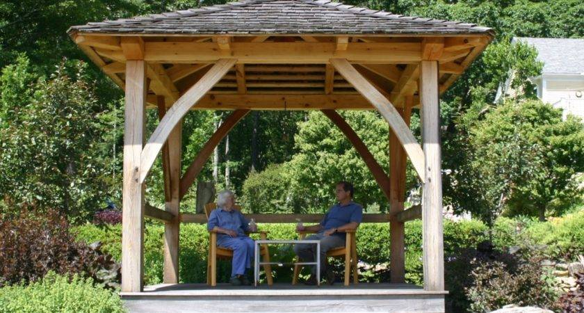 Japanese Influenced Garden Gazebo Massachusetts
