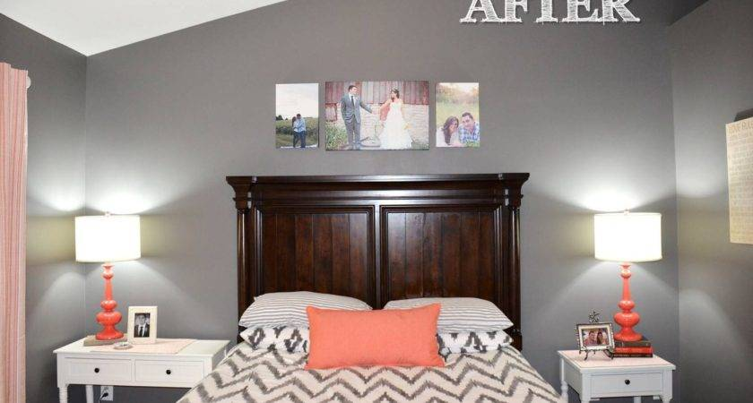 Jessica Stout Design Coral Gray Master Bedroom Home