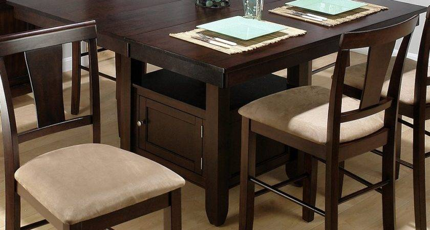 Jofran Counter Height Storage Dining Table Atg Stores