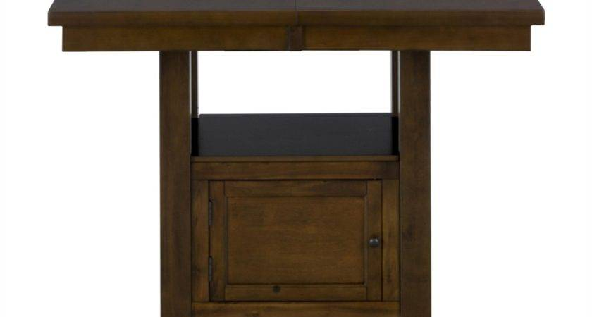 Jofran Taylor Counter Height Storage Dining Table Atg Stores