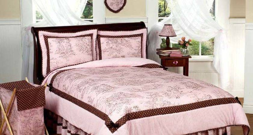 Jojo Pink Brown French Toile Girl Teen Queen